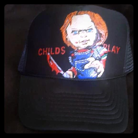 77c025d0909ac Custom Painted Chucky SnapBack Hat!